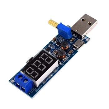 цена HW-132 DC USB Boost Power Regulator Module Desktop Power Module Power Supply Module Adjustable Converter voltmeter онлайн в 2017 году
