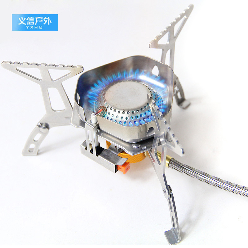 New Style Outdoor Windproof Camping Stove Furnace Head Gas Stove Ye Can Lu Split Furnace With Ignition Stove