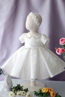 Girl's Clother Children's Graduation Revelry Luxurious Dress Appliques Formal Dresses Satin Material Newborn Baptism Dress