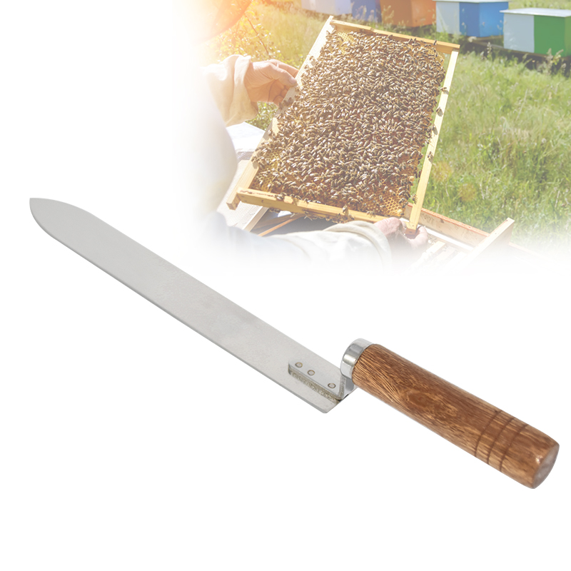 Honey Knife Bee Beekeeping Equipment Cutting Knife Wooden Handle Beehive Tools Stainless Steel Ultra-thin Apiculture Scraper
