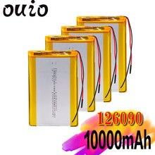 Bateria recarregável 3.7 de 1/2/4 pces 10000 v 126090 mah li-po para o orador meados de bluetooth do pc de mp4 gps da tabuleta, lâmpada conduzida da câmera de digitas