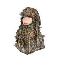 KUBUG Camouflage Leafy Masks Outdoor Tactical Hood Hunting Sniper Headvie Hood Green Leafy Net Eyehole Opening