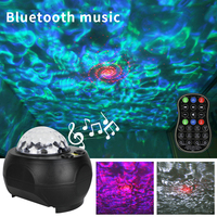 YSH Mini LED Star Night Light Music Starry Water Wave LED Projector Light Bluetooth Projector Sound Activated Light Decoration