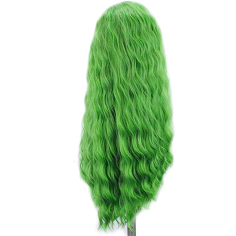 Image 5 - Charisma Deep Wave Wig Side Part Synthetic Lace Front Wig Heat Resistant Fiber Hair Green Wigs for Women Natural Hairline-in Synthetic None-Lace  Wigs from Hair Extensions & Wigs