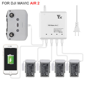 6 in 1 Smart Battery Charger Multi Charger USB Charging Hub for DJI Mavic Air 2 Drone RC Accessories With Cable &Power plug cord(China)