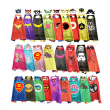 Superhero Capes with Masks for Kids Birthday Party Supplies Party Favor Halloween Costumes Dress Up Girls Boys Cosplay(China)