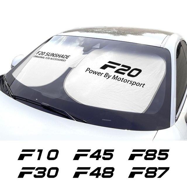 אביזרים לרכב עבור F10 F20 F30 F31 F11 F34 F01 F12 F18 F32 רכב שמשה קדמית שמשיות שמשייה כיסוי אוטומטי אנטי UV רפלקטור