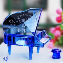 2019 hot sale led light 3d music crystal ball glass snowflake globe creative home decor birthday valentine s day gift for girl Crystal piano music box music box birthday gift diy creative gift girl Tanabata Valentine's Day gift