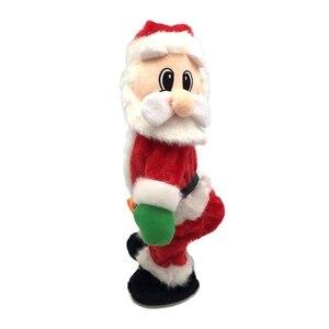 Juguetes eléctricos navideños de Santa Claus, juguetes eléctricos de música que agitan la cadera