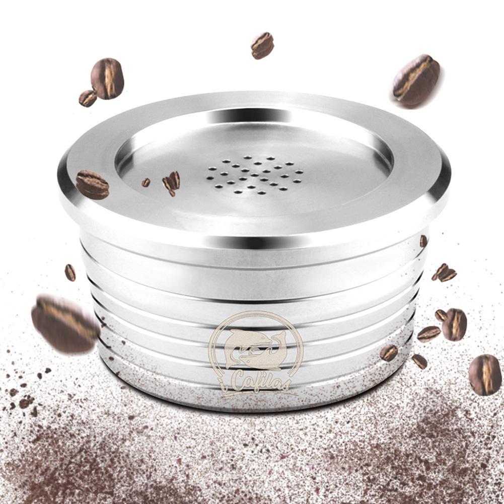 فلتر كبسولي قهوة اسبريسو من الفولاذ المقاوم للصدأ القابل لإعادة الاستخدام متوافق مع دلتا Q 2020