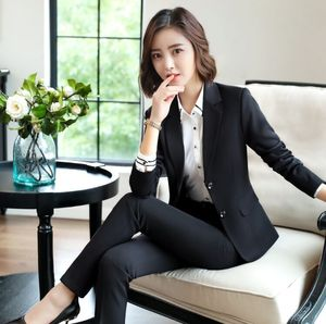 Black Blue Female Elegant Women's Skirt Suits Suit Dress Costumes Office Wear Blouse Skirt and Jacket Set 2 Set Piece Vest Shirt