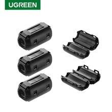 Ugreen Clip on pierścień filtra ferrytowego rdzeń do kabli cyfrowych RFI EMI tłumik hałasu aktywne komponenty filtry zabezpieczenie kabla