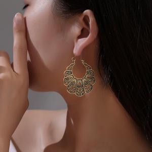 Modyle Dangle-Earrings Statement Jewelry Punk Metal Gold-Color Girl Vintage Women Big