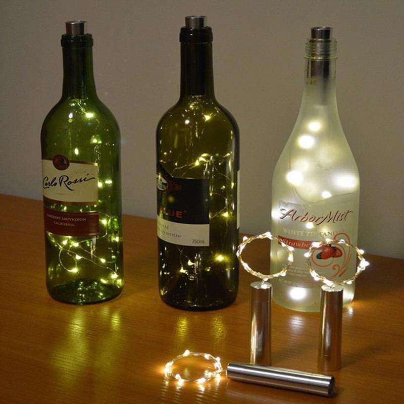 Battery Powered Garland Wine Bottle Lights 3M 30 LEDs Copper Wire String Light Fairy Lights String For Party Wedding Decor