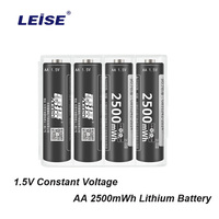Leise 1.5V AA lithium Battery 2500mwh 2a Li ploymer Rechargeable batteries 4 pcs li ion High capacity with Battery case For Toy