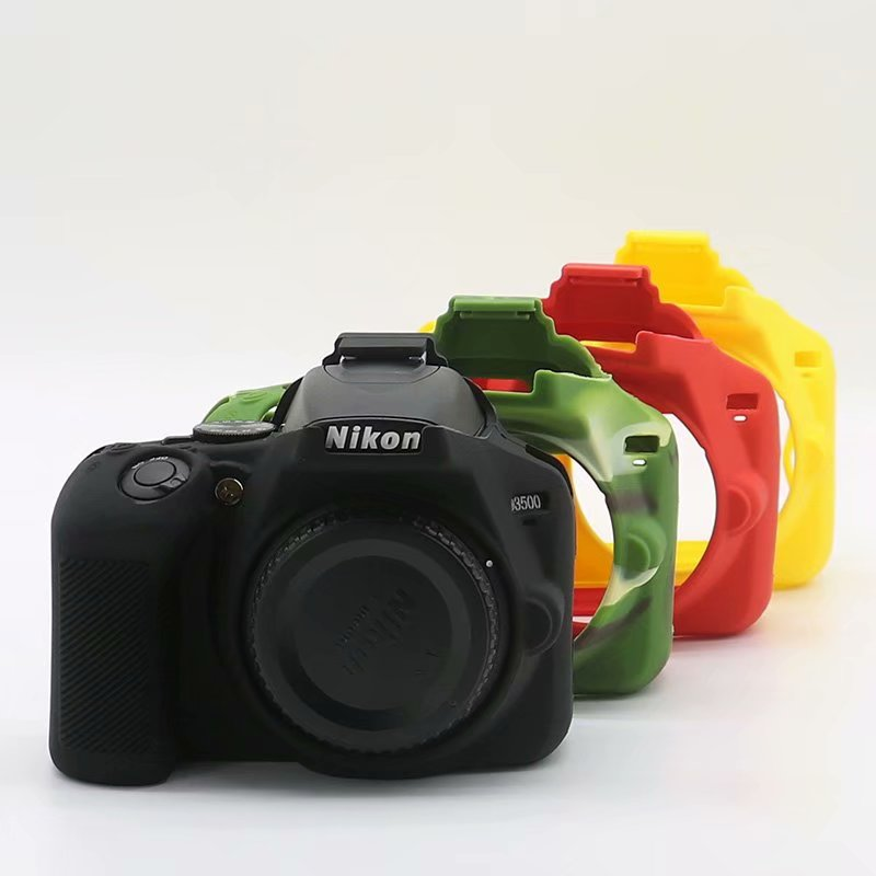 Nice Soft Silicone Rubber Camera Protective Body Cover <font><b>Case</b></font> Eyepiece Viewfinde Eyecup For <font><b>Nikon</b></font> <font><b>D3400</b></font> D3500 Camera Bag Lens bag image