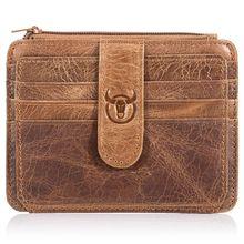 BULLCAPTAIN Men Wallet Business Card Holder leather pickup p