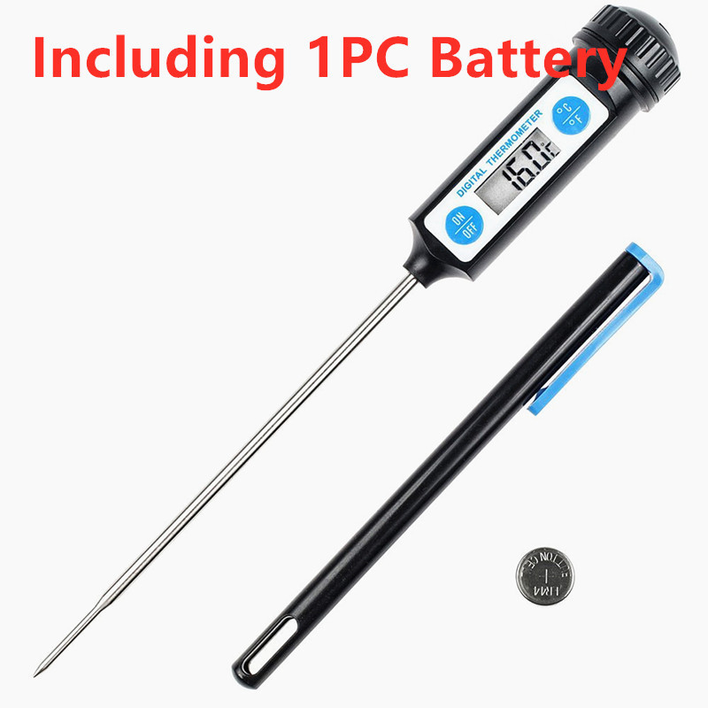 1PC Electronic Digital Food Thermometer BBQ Meet Thermometer Household Long Probe Thermometer For Kitchen Cooking Cake Candy
