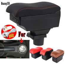 Accoudoir pour Mitsubishi Colt, boîte de rangement centrale avec cendrier porte-gobelet avec interface USB