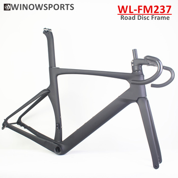Winowsports 2021 New Aero carbon road disc frame FM237 full hidden cable routing BB386 carbon frame with integrated handlebar special offer fcfb fw road bike complete full carbon fiber used full carbon road handlebar srem leader photo frame