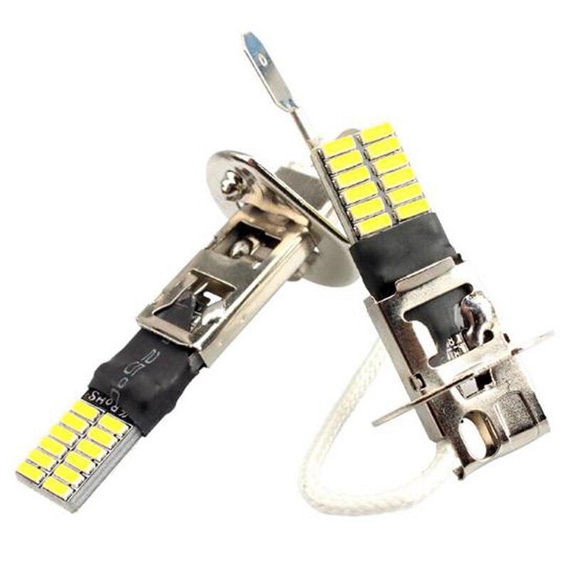 6500 k hid xenon branco 24-smd h1 lâmpadas de substituição led para luzes de nevoeiro condução drl