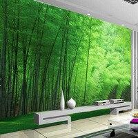 Clearance Nature Green Bamboo Wallpaper Living Room Wall Art Decor Photo Wallpapers Wall Coverings 3d Wall Murals Dropshipping