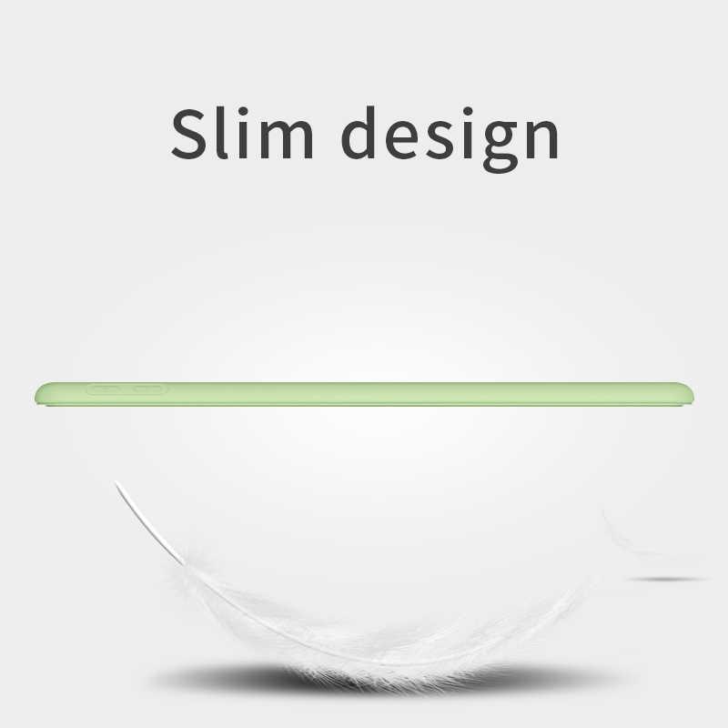 Ipad の空気 2 空気 1 ケース 2018 9.7 Funda シリコンソフトバックカバーケース 10.5 Pu レザースマートケース iPad ミニ 1 2 3 4 5 世代ケース