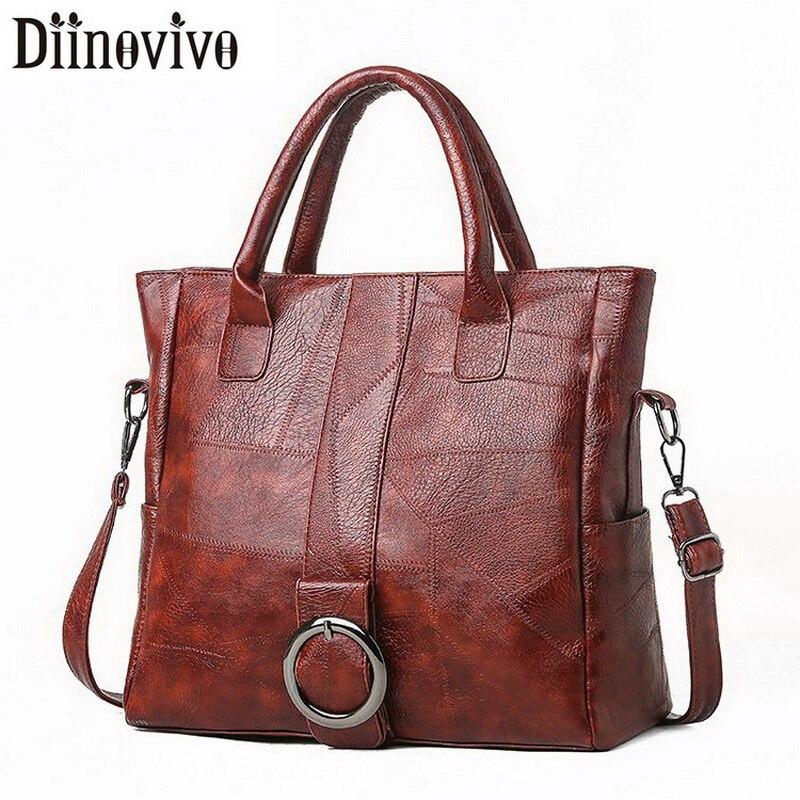 DIINOVIVO Retro Thread Ladies Hand Bags Large Capacity Tote Shoulder Bags Women Travel Crossbody Handbag Female New WHDV1231