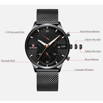 Relógio REWARD Malha de Aço VIP 2