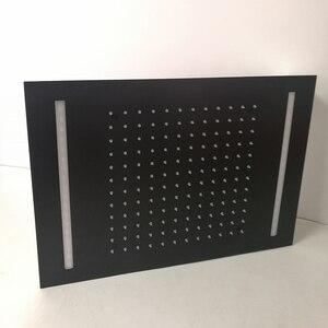 Черный душевой светодиодный светильник аксессуары для ванной комнаты 360x500 мм Потолочный подвесной дождевой Душ pommeau de douche Metal