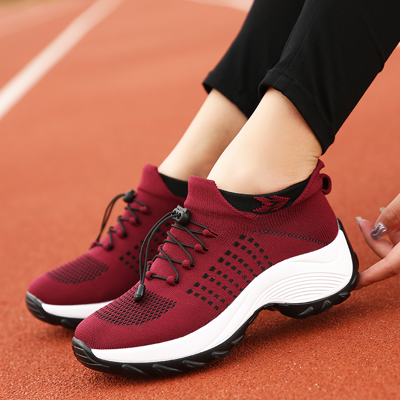 mesh breathable women casual shoes korean platform ladies comfortable sneakers high increasing female moccasins vulcanized woman (5)