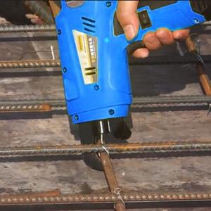 Image 3 - Completamente automatico di rinforzo bar vincolante macchina ricaricabile al litio elettrica filo di rilegatura 8 34 millimetri Portatile Tondo Per Cemento Armato Che Lega Macchina