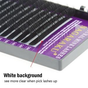 Image 3 - NAGARAKU 3 케이스 Faux mink 속눈썹 연장 개별 속눈썹 가짜 속눈썹 메이크업 도구 뷰티 살롱