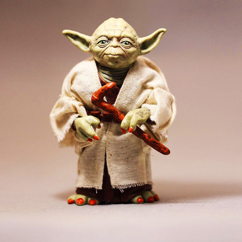 12cm Star Wars Jedi Knight Master Yoda PVC Action Figure Collectible Marvel Star Wars Yoda PVC Model Doll Kids Brinquedos