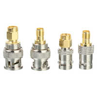 4pcs/set BNC Male Plug to SMA Female Connector Adapter RF Coax Coaxial Converter M/F Radio Antenna Adapters Kit