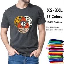 Men's T-Shirt Douglas Adams Black Soft Answer-To-Life-The-Universe Women 100%Cotton 42