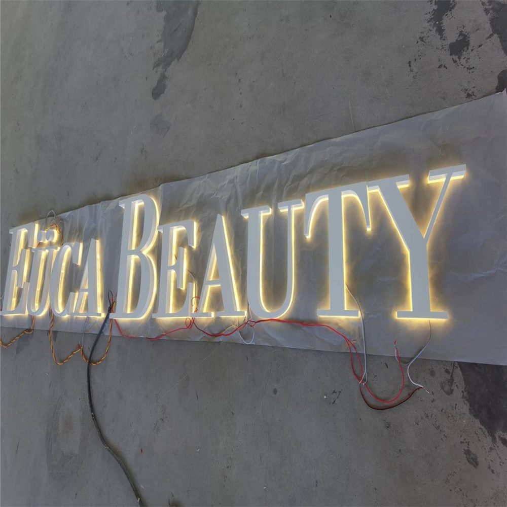 Custom Made Stainless Steel Back Lighted LED Letters For Shop Front, Metal Shop Name Signs, Backlit Store Signs Company Logo