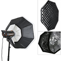 Godox 47 120cm Octagon Softbox Bowens Mount Ring with Grid Honeycomb for Studio Strobe Speedlite Flash