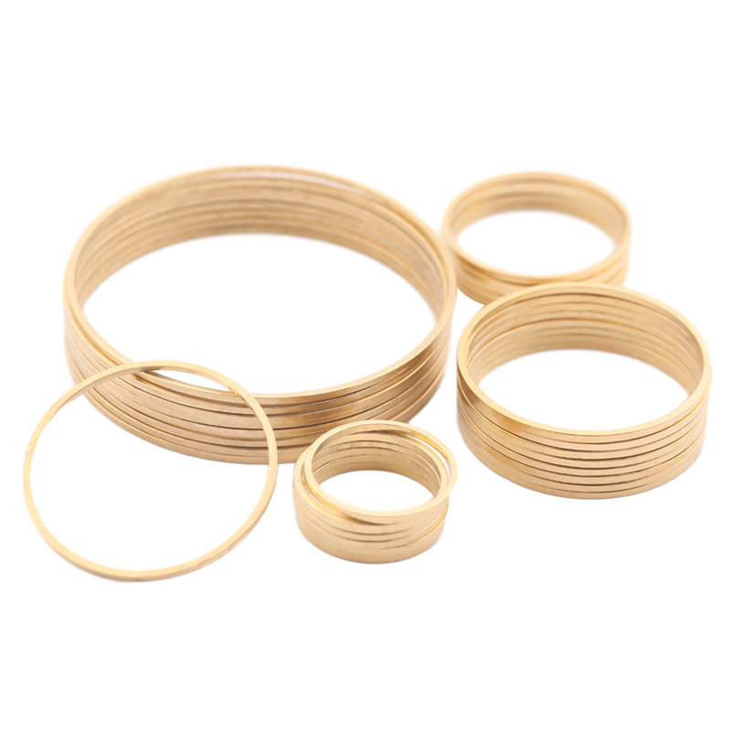 30Pcs Raw Brass Earring Charm Circle Ring Round Hoop Connector Dream Catcher Link O Ring Jewelry Making DIY Earrings Findings