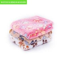 3 colores, 40x60 cm, 75x50 cm, lindo sueño Floral para mascotas, cálido estampado de pata, toalla para perros, gatos, forro polar, manta suave para perros, camas para mascotas