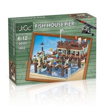 Ideas Creator Moc Series The Dock And Old Fishing Store Set Compatible Lepinng 21310 Building Blocks Bricks House Toys Gifts