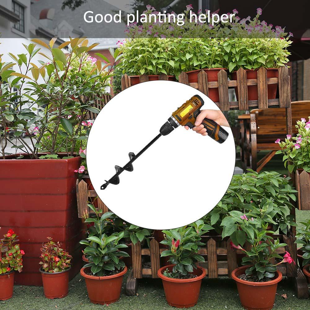 Garden Auger Spiral Drill Bit Tools Planting Machine Flower Planter 4 x 22 Rapid Planter Yard Hole Digger Tool