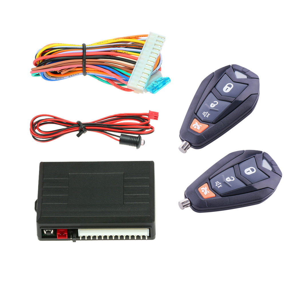 Universal Car Alarm Auto Central Kit <font><b>Door</b></font> Lock Keyless Entry <font><b>System</b></font> <font><b>Locking</b></font> With <font><b>Remote</b></font> Control image