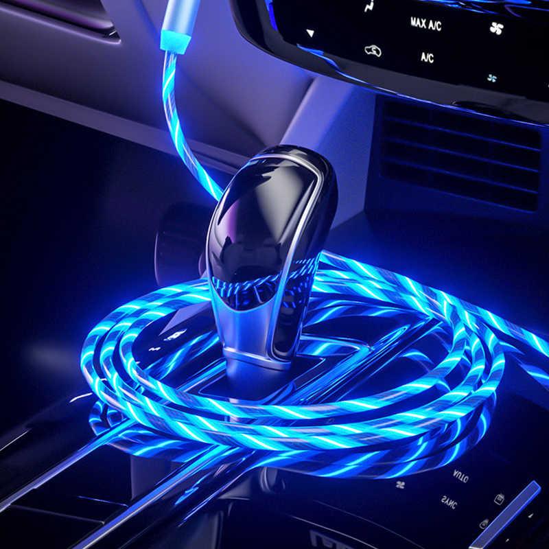 1M LED aydınlatma hızlı şarj manyetik USB tip C kablo manyetik kablosu USB mikro şarj kablosu kablosu iPhone huawei Samsung