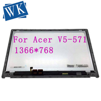 """with frame  15.6"""" LCD Touch Screen Digitizer Assembly B156XTN03.1 For Acer Aspire V5-571 V5-571P V5-571PG touch can not work"""