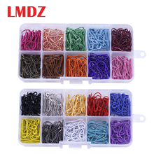LMDZ 100PC Mix Color Safety Pins Gourd Shape Metal Clips Gourd Pins Knitting Cross