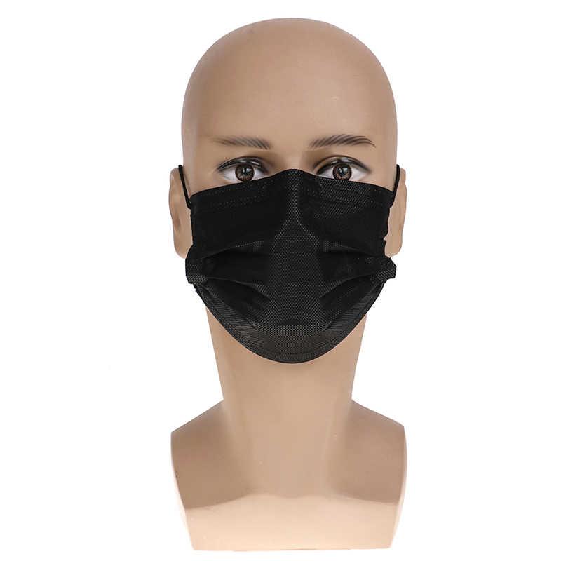 10 قطعة الكرتون لطيف غير المنسوجة الفم دثر انفلونزا الوجه الأسود المتاح الفم قناع مكافحة الغبار يندبروف أقنعة دراجة نارية قناع الوجه
