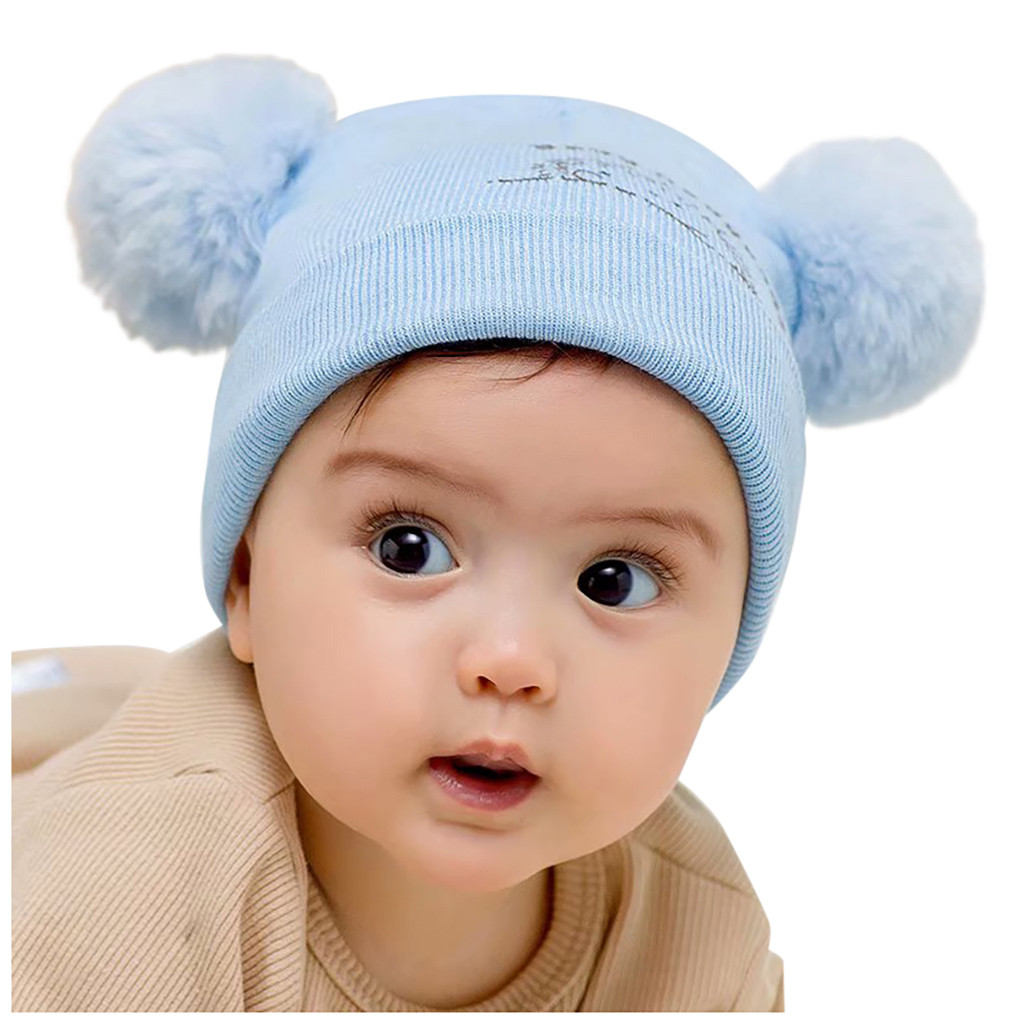 Winter Warm Toddler Knitted Earflap Hat Kid Baby Boy Girl Knit Headwear Knit Cap