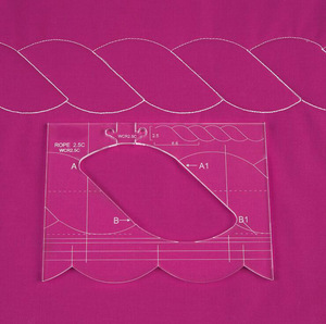 Image 5 - Neue herrscher grenze sampler vorlage set für nähen maschine können schaffen schöne grenzen 1 set = 4 stücke # RL 04W