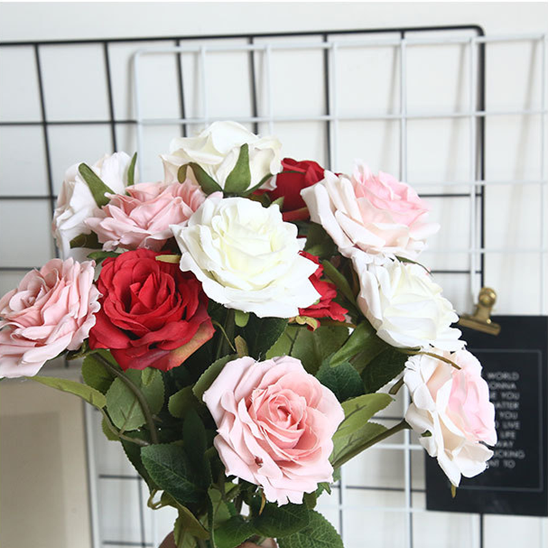 1 Branch Artificial Flower Diy Silk Rose Fake Flower Valentine S Day Gift Wedding Home Decoration Artificial Dried Flowers Aliexpress